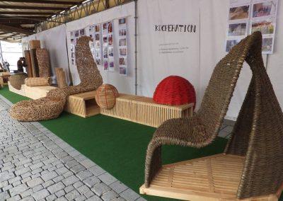 Korbmarkt 2017: Stand der Fachschule, Sitz